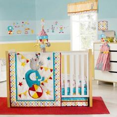 Zutano Circus Bedding By Kidsline   Baby Circus Crib Bedding   Zcircus4