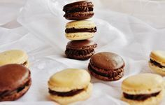 Extra čokoládové a vanilkové makronky Macarons, Cheesecake, Muffin, Cookies, Breakfast, Healthy, Sweet, Fitness, Christmas