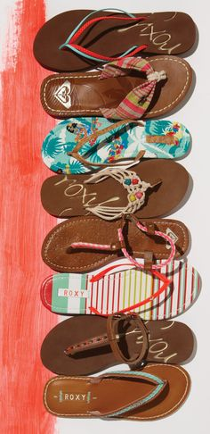 Which Summer ROXY sandals would you choose? Sock Shoes, Cute Shoes, Me Too Shoes, Shoe Boots, Shoes Sandals, Pink Sandals, Women Sandals, Flipflops, Espadrilles