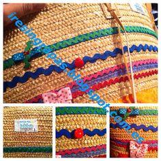Capazo de mimbre con lazos y puntillas diy Crochet Bags, Irene, Diy Crafts, Handbags, Crafty, Blanket, Decor, Log Projects, Ideas