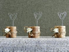 Place Card Holders, Wine Tasting Party Decor, Winery Wedding Decor, Wine Cork Place Card Holder, Rustic Wedding Decorations, Set of 15