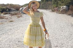 Vintage 50s Dress/ 1950s Cotton Dress/ Gay by WhenDecadesCollide