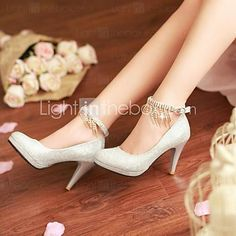 Pantofi pentru femei - Luciu - Toc Stiletto - Vârf Rotund / Platforme - Pantofi cu Toc - Rochie - Negru / Argintiu / Auriu / Roșu 2005645 2016 – $34.99 Glitter Pumps, Glitter Dress, Stiletto Heels, Shoes Heels, Sexy High Heels, Autumn Summer, Platform Pumps, Vintage Ladies, Loafer