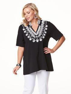 Emme Midnight Kaftan - Long Sleeve Tops - My Size, Plus Size Women's Fashion & Clothing