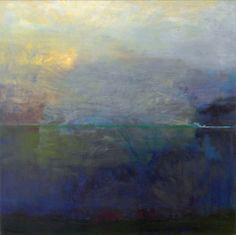 Sininen uni aka blue dream by Marina Zitting oil on canvas, 100 cm square. Lovely.