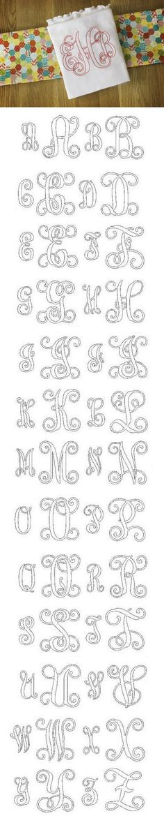Embroidery Bean Stitch Interlocking Ribbon Monogram, Designs By JuJu Machine Embroidery Store View Embroidery Store, Embroidery Letters, Silk Ribbon Embroidery, Embroidery Fonts, Embroidery Applique, Cross Stitch Embroidery, Machine Embroidery Designs, Initial Fonts, Monogram Fonts