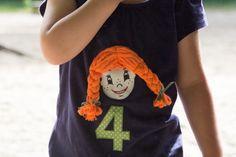 Pippi Langstrumpf T-Shirt selber nähen