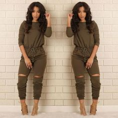 - Available in Black, Heather Grey and Olive - Boat Neck - 3/4 Sleeve - Drawstring Waist - Slit Knee - 60% Polyester 35% Cotton 5% Spandex
