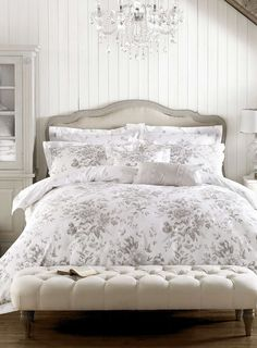 Stylish and contemporary duvet covers available from Dunelm. Our bed linen range includes a variety of colours and patterns, all made with high quality material and in every size, from single to king size duvet covers. Bed Duvet Covers, Duvet Sets, Grey Bedding, Luxury Bedding, Luxury Bedrooms, Master Bedrooms, Vintage Bedding Set, Bedroom Furniture, Bedroom Decor