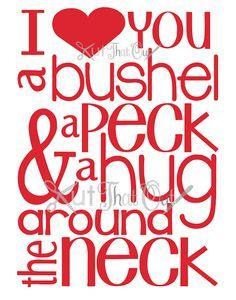 Download I love you a bushel and a peck | Lettering, Cricut, Cricut ...