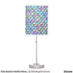 Falln Rainbow Bubble Mermaid Scales Table Lamp #zazzle