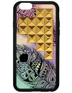 Feather Gold Studded Pyramid iPhone 6 Case