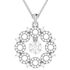 Ct Real Natural Diamond Cluster Drop Pendant In Solid White Gold White Gold Jewelry, Diamond Flower, Flower Pendant, Vintage Watches, Natural Diamonds, Fine Jewelry, Pendant Necklace, Silver, Money