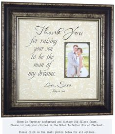 Parents of the Groom Personalized Photo by PhotoFrameOriginals