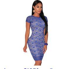 [US $22.88] - New Arrival 2015 Bodycon Dresses Backless White/Blue Lace Nude Illusion Fringe Trim Dress LC22384 Vestidos Verano Mujer