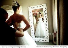 Barbara wore a gorgeous gown designed by Italian designer Domo Adami | weddingsabroadguide.com