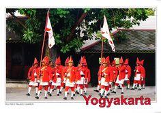 INDONESIA (Java) - Prajurit Wirobrojo, the Sultan's of Yogyakarta ceremonial guards