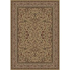 "The Conestoga Trading Co. Persian Classics Brown Oriental Kashan Area Rug Rug Size: 10'11"" x 15'"