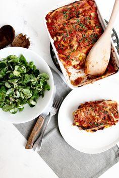 Enchiladas vegan à la patate douce et haricots rouges - Mary Devinat