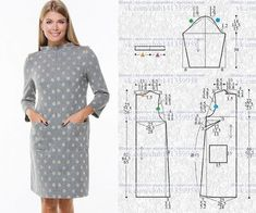 Sewing Stitches Sewing For Beginners Clothing Patterns Dress Patterns Sewing Patterns Knitting Patterns Free Sewing Sewing Crafts Sewing Hacks Sweater Knitting Patterns, Dress Sewing Patterns, Sewing Patterns Free, Free Sewing, Clothing Patterns, Fashion Sewing, Diy Fashion, Gown Pattern, Make Your Own Clothes
