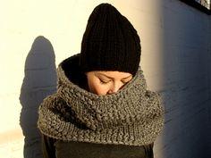 Nudakillers - big snud, oversize, diamond pattern, handmade, knitted