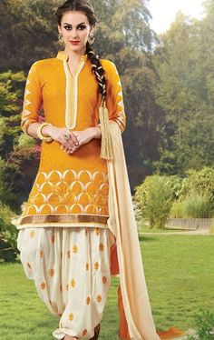 Ethereal Yellow Casual Patiala Suit