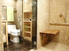 I like the glass shower and the extra open and closed shelving next to toilet which I will have room for. Perfect for my project. -DIY