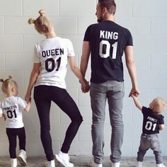 King Queen Prince Princess, Matching Family Shirts. You deserve nothing less than these cool matching family t-shirts! Get yours now!