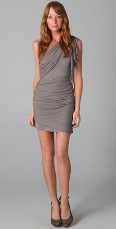 <3 this. can't get away from the sexy draping of a one shoulder + (in a brighter color though!)