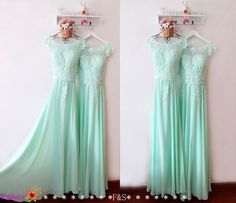 Mint Prom DressMint Bridesmaid Dress LaceSexy by FashionStreets
