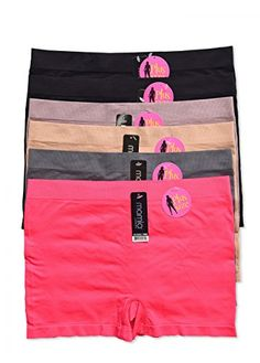d953fa6298 WS Mamia Multi Pack of 36 or 12 Womens Classy Stretch Boy Shorts Panties  Stretch BeautyPlus6pk
