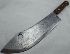 Vtg Antique Enderes Lamb Splitter Buffalo Skinner Butchers Meat Cleaver Knife