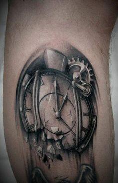 Melting Clock Tattoo