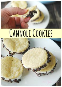 Make a lazy version of cannoli with Cannoli Cookies. These are perfect for the holidays and so easy!