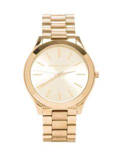 b78cd96b40b Michael Kors Slim Classic Watch in Gold