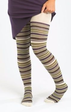 Maggies Organics Grapevine Striped Tights