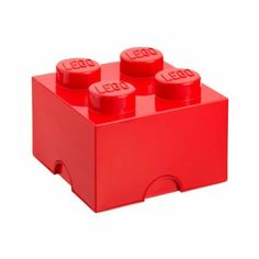 Amazon.com - The Container Store LEGO Storage Brick - Lidded Home Storage Bins  sc 1 st  Pinterest & Lego storage - love the color and could put matching colors iside ...