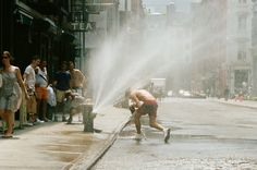 when i go to new york, it will be summer and i will shower in the spray of a fire hydrant.