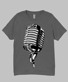 Another great find on #zulily! Charcoal Microphone Tee - Infant, Toddler & Boys #zulilyfinds