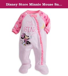 Disney Store Minnie Mouse Snap Blanket Sleeper Footed for Baby (Minnie) (0-3 Months). Minnie Mouse and your little one will sleep peacefully under the moon and stars in this soft blanket sleeper. Minnie keeps the moon steady as she tries to ''Catch A Falling Star'' on this cozy sleepwear with attached slipper feet.