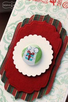 Christmas present  http://www.hurt.scrap.com.pl/plakietka-flair-buttons-potworna-kolekcja-2.html