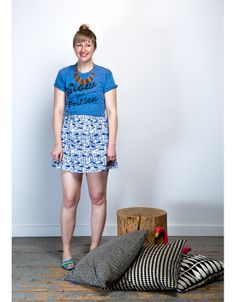 Necklace, Mata Traders; T-Shirt,  Sweet Cycle Apparel , Dress (layered under shirt), Mata Traders