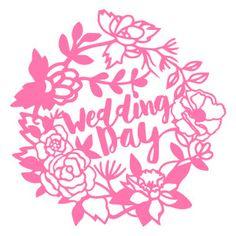 Silhouette Design Store - View Design #119027: garden flowers wreath frame wedding day