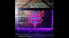 Game Room Accessories, Basketball Room, Charlotte Hornets, Led Neon Signs, Red Blue Green, Light Of Life, Decorative Accessories, House Warming, Vibrant Colors