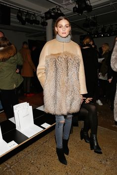 Socialite Olivia Palermo attends the Jonathan Simkhai fashion show during Fall 2016 MADE Fashion Week at Milk Studios on February 14, 2016 in New York City.