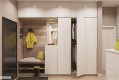 The Best 2019 Interior Design Trends - Interior Design Ideas Hallway Cabinet, Hallway Closet, Hall Wardrobe, Wardrobe Design Bedroom, Hall Furniture, Hall Design, House Entrance, Entrance Hall, Closet Designs