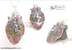 Wire Wrap Gemstone Pendant Agate Fairy