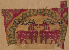 Date:      8th–9th century  Culture:      Eastern Iran or Sogdiana  Medium:      Silk  Dimensions:      13 3/8 x 17 5/16 in. (34 x 44 cm)  Classification:      Textiles-Woven  Credit Line:      Purchase, Rogers Fund, by exchange, 2006  Accession Number:      2006.472