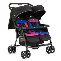 Twin Pram Pushchair Stroller Double Pink and Blue Seat Kids Tandem Baby Buggy for sale online Baby Jogger Stroller, Twin Strollers, Best Baby Strollers, Double Strollers, Twin Toddlers, Twin Babies, Twin Pram, Baby Prams, Bugaboo