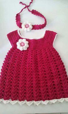 Crochet Bebe, Crochet For Kids, Cardigan Pattern, Baby Cardigan, Crochet Designs, Crochet Patterns, Crochet Doll Clothes, Dress Patterns, Baby Kids